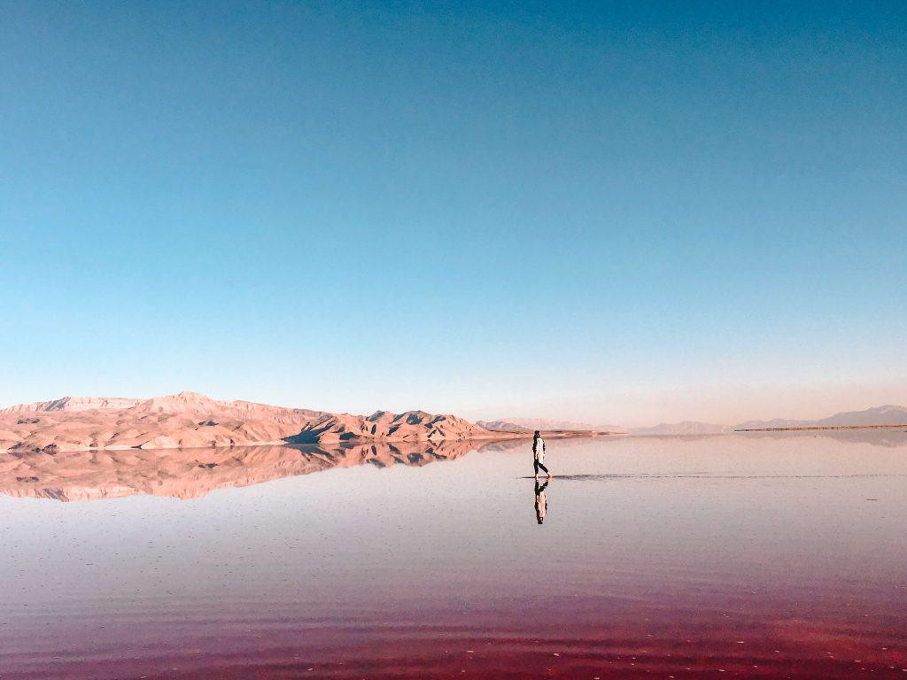 iran shiraz pink lake