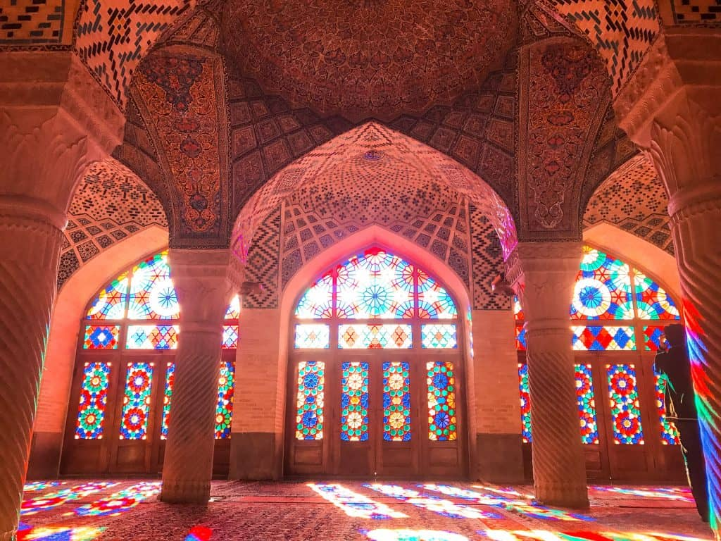 iran shiraz pink mosque