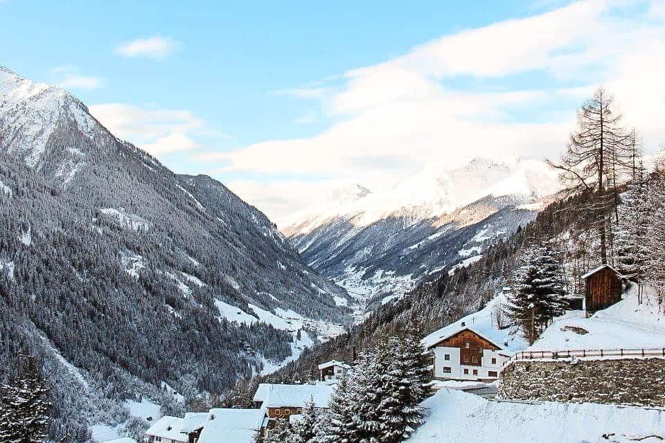 small town austria in mountains