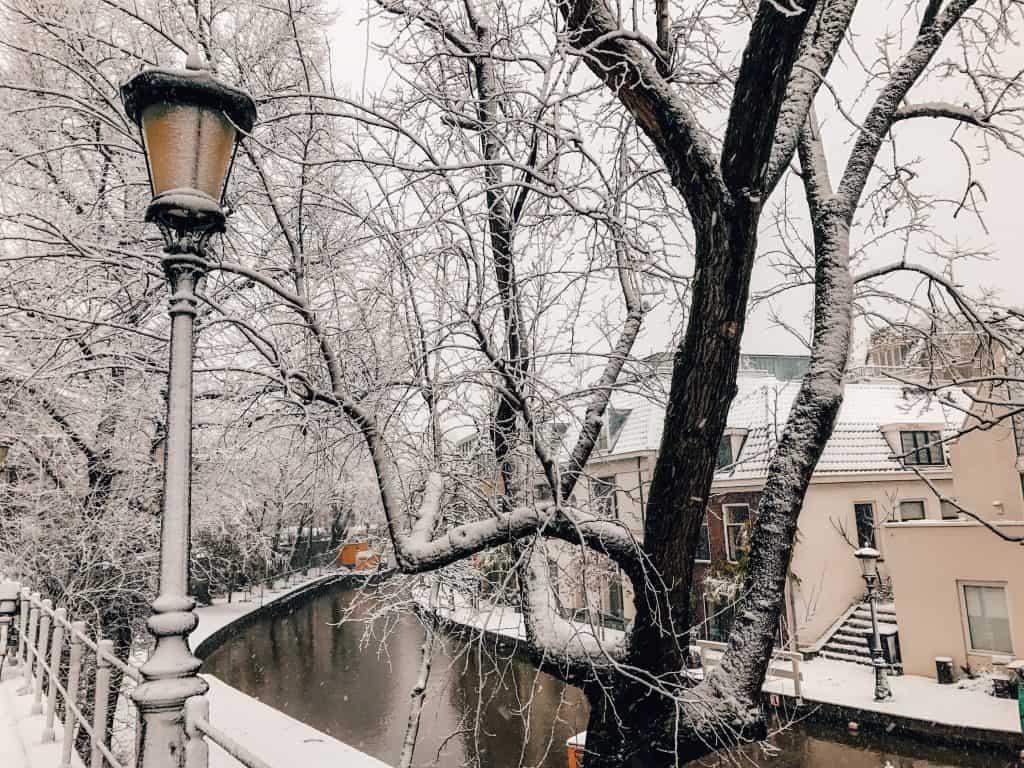 Utrecht in snow