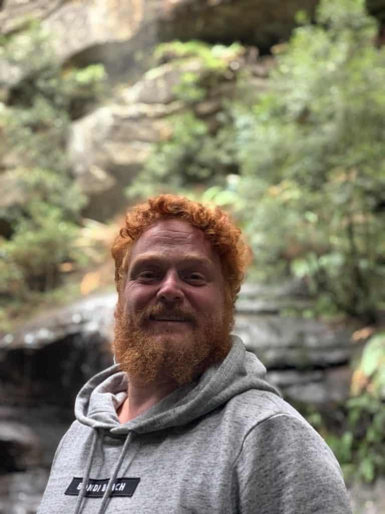 Redhead at Leura Cascades, NSW