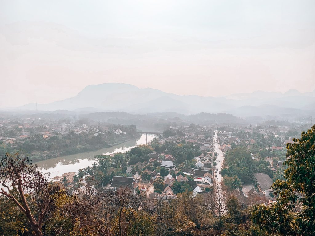 luang prabang view from phousi hill