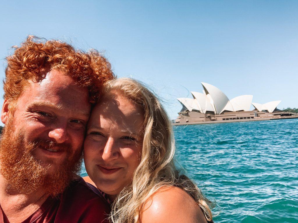 couple by sydney opera house