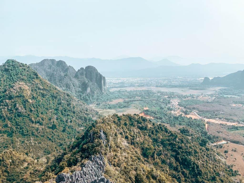 view over Vang Vieng
